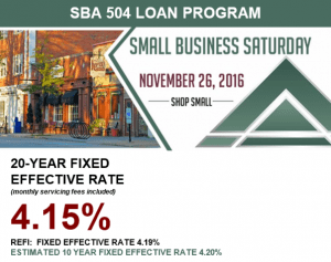 November Interest Rate for SBA 504 Loan Program