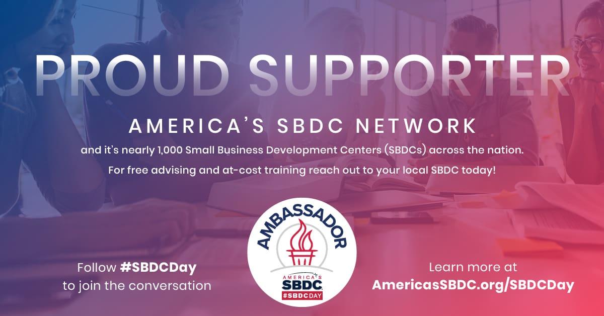 Proud Ambassador of #SBDCDay